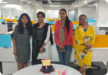 Cake Cutting on Womens Day'21